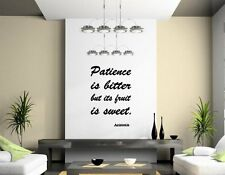 JC Design 'Patience is bitter but its fruit is sweet' - Aristotle Wall Sticker