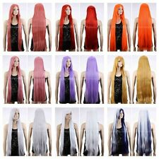 "9 Color 40"" Long Straight Anime Cosplay Party Wig Ladies Heat Resistant Full Wig"