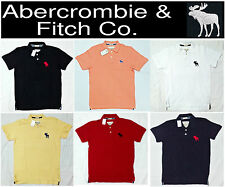 Abercrombie & Fitch A&F 2014 Cotton Collar Tees Polo T-Shirt S M L XL. Clearance