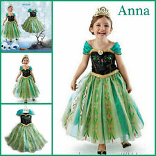 Disney Frozen Princess Anna Girls Kids Dress Skirt Cosplay Costume #A