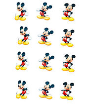 Disney Mickey Mouse Minnie Mouse Edible Cupcake Cake Toppers