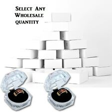 LOT OF 24~96~144 Pcs CLEAR ACRYLIC RING BOXES WHOLESALE RING BOXES GIFT BOXES