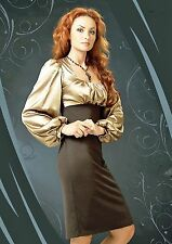 COCKTAIL PARTY DRESS GOLD ROMANTIC STRETCH MADE IN EUROPE M L XL
