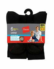 Hanes Men's Big and Tall ComfortBlend® Crew Socks 6-Pack - style 910/6P
