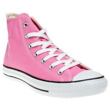 New Girls Converse Pink All Star Hi Canvas Trainers Lace Up