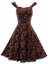 New Red H&R Victorian Retro Corset style Gothic Revival Moulin Rouge Party Dress