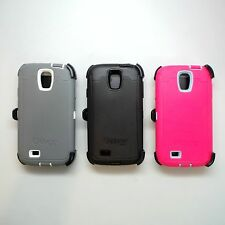 OEM OtterBox Defender Phone Case & Holster Clip For Samsung galaxy S4