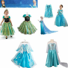 1 Mädchen Frozen Elsa Perlen Tüll Kleid Kostüm Cosplay Party Dress Eiskönigin