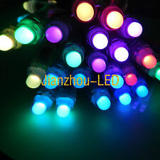WS2811 WS2801 6803 1903 12MM LED Module String Light Exposed 5050 Point Source