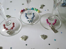 Wine Glass Charms/wedding top table/decoration/gift/Christening/Hen night/Party