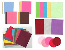 Embossed Card Stock Sizzix, Cuttlebug - Scrapbooking / Card Toppers Choice of 15