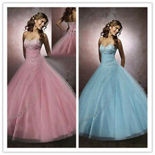 STOCK New Nice Prom Ball Gown Formal Wedding Bridesmaid Evening Dress Size 6-18