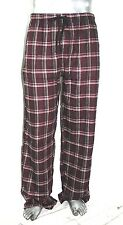 NWT Jockey Tall Flannel Sleep Pants PAJAMA Plaid burgundy relaxed fit *Large