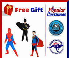Kids Superhero Costumes Batman Superman Spiderman Boys Halloween Party Outfit