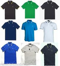 FRED PERRY T-Shirt Men's Twin Tipped Polo Slim Fit M3600 Various Colours & Sizes