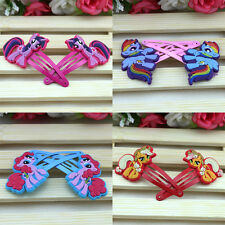 One Pair My little Pony Hair Clip Cute Baby Kids Girls Hairpins Hair Accessories