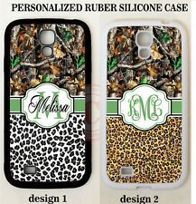 CHEETAH LEOPARD NATURE CAMOUFLAGE MONOGRAM Case For Samsung Galaxy S6 S7 NOTE 5