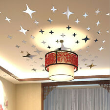 Acrylic Star Sky Art Gift Mirror Surface Living Room Background 3D Wall Sticker