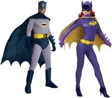 Couples Batman and Batgirl Adult Costumes 60s Tv Show Retro Cosplay Halloween