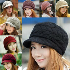 Womens Lady Winter Warm Knitted Crochet Slouch Baggy Beanie Hat Cap