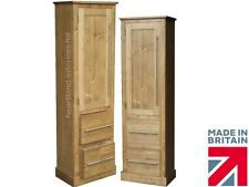 Solid Pine Cupboard, 172cm Tall Bathroom, Linen, Pantry, Shoe Storage Cabinet
