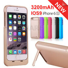 AU For Apple iPhone 6 6S Charger Case Backup External Battery 3200mAH Power Bank