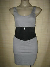 New Belted stretch bodycon SINGLET Pencil Dress (you choose colour) size M
