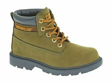 Caterpillar Childrens Avocado Colorado Kids Rubber Sole Flat Heel Lace Up Boots