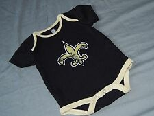 New Orleans Saints One piece Creeper Infant Sizes NFL Team Apparel Baby Romper