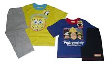 BOYS PYJAMAS SPONGEBOB OR FIREMAN SAM