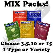 3,5,10,15+Mix Pack RED STAR Wine Yeast Cider Mead Making Moonshine Distilling