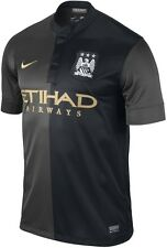 New Nike Manchester City Away Jersey 2013-2014 Black/Gold 574864-011
