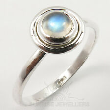 925 Solid Sterling Silver RAINBOW MOONSTONE Gemstone Pretty Ring Choose Any Size