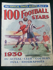 Topical Times 1930 trade card cut-outs - 100 FOOTBALL STARS - individual players