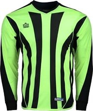 New Admiral BAYERN Youth Sm - Lrg PADDED Soccer GOALIE GOAL JERSEY Shirt Lime