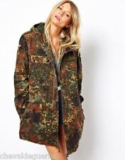 Vintage womens oversized camouflage German army parka coat jacket camo military