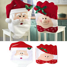 Mr & Mrs Santa Claus Christmas Dining Room Chair Cover Home Party Decoration