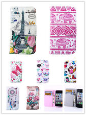 Magnet Flip Pattern Wallet Stand Leather Case TPU Cover For Various Mobile Phone