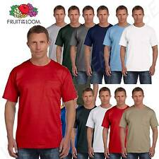 Fruit of the Loom Men's 5 oz 100% Heavy Cotton Pocket S-XL T Shirt 3931P