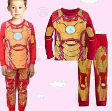 Marvel Superhero Inspired Iron Man Pajama Set Deluxe Sleepwear Kids Boys