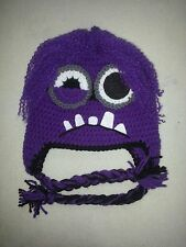 new evil minion from Despicable me crochet hat choose the size you need 2 eyes