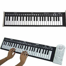 Portable 49 Keys Flexible Roll Up Midi Electronic Keyboard Piano with AC Adapter