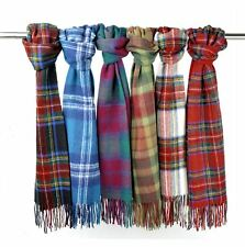 New Scottish 100% Wool Tartan Clan Scarf Gift in Various Tartans and Clans