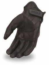 First Classics Men's Fully Perforated Leather Motorcycle Pair Glove