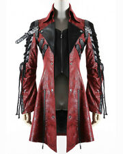 Punk Rave Poison Jacket Red Faux Leather Black Goth Steampunk Womens Coat