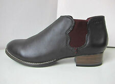 Tamaris Chelsea Leder Stiefelette grau braun 36-40 ankle boots bootee brown rot