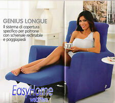 Copripoltrona reclinabile relax copridivano un posto genius lounge MADE IN ITALY