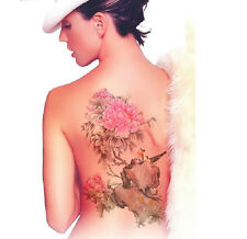 20 type sexy women back Temporary Tattoo Sticker(flowers/peacock/butterfly)