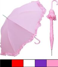 """New RainStoppers 48"""" Parasol Style Umbrella pink - Free Priority Shipping"""
