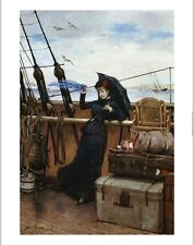 """HENRY BACON """"Departure"""" Ship CANVAS ART ! choose SIZE, from 55cm to X LARGE, NEW"""